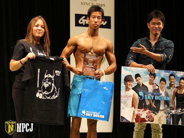 メンズフィジークノービス175cm以上優勝者-Ike-Yuki