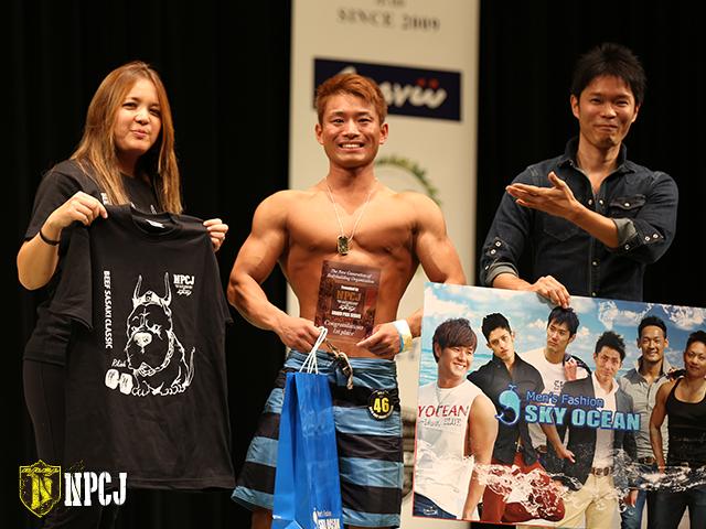 メンズフィジークノービス170cm未満優勝者-篠田-貴徳