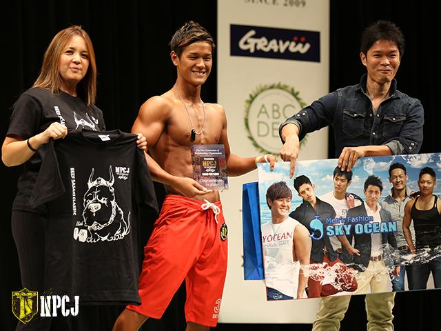 メンズフィジークノービス175cm未満優勝者-真子-心太朗