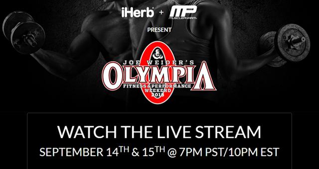 2018 Olympia はライブで観よう!