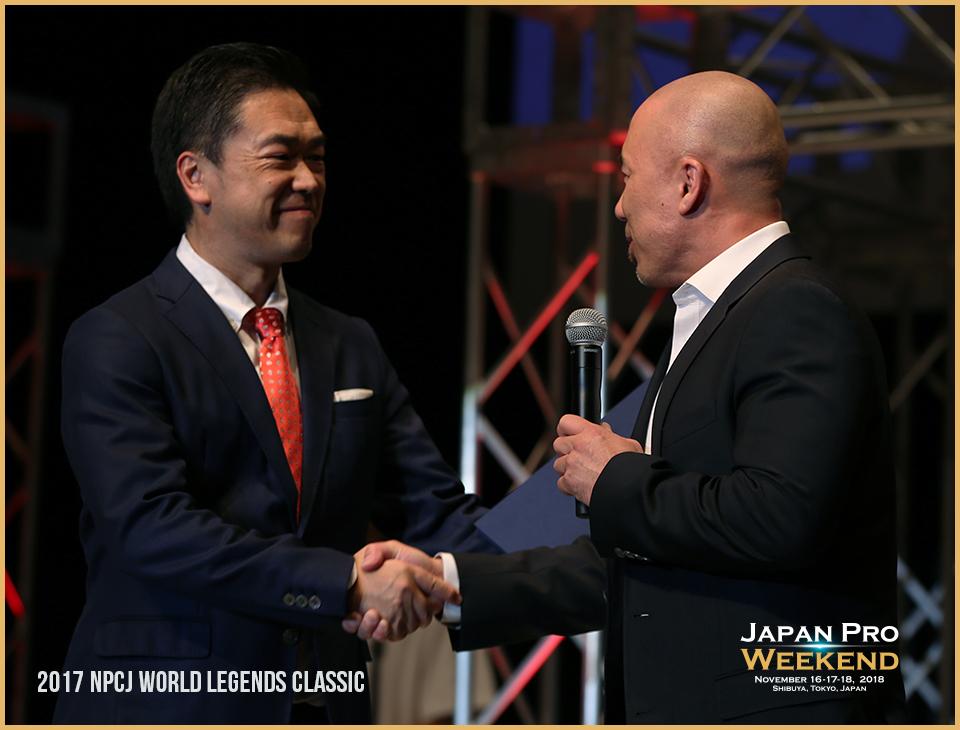 2017年 IFBB Professional League との調印式