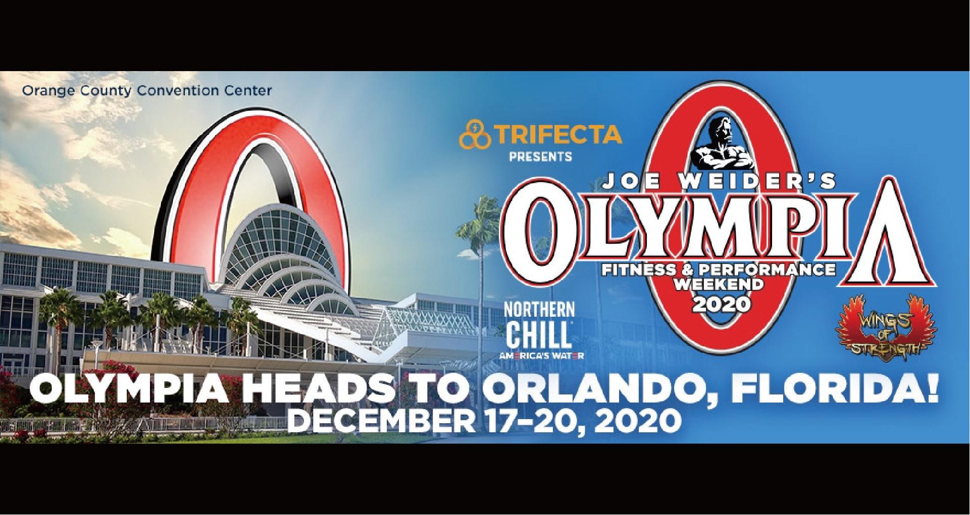 2020年の Mr.Olympia はラスベガスからフロリダ州オーランドに移動し開催されることとなりました。